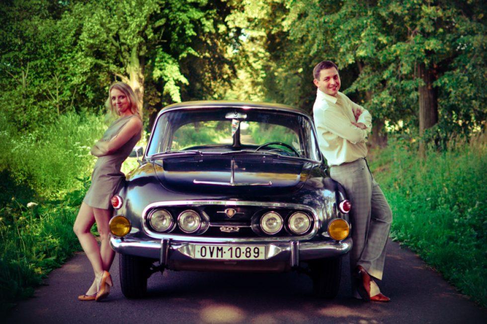 Svatební oznámení s Tatrou 603 – 09. 07. 2013
