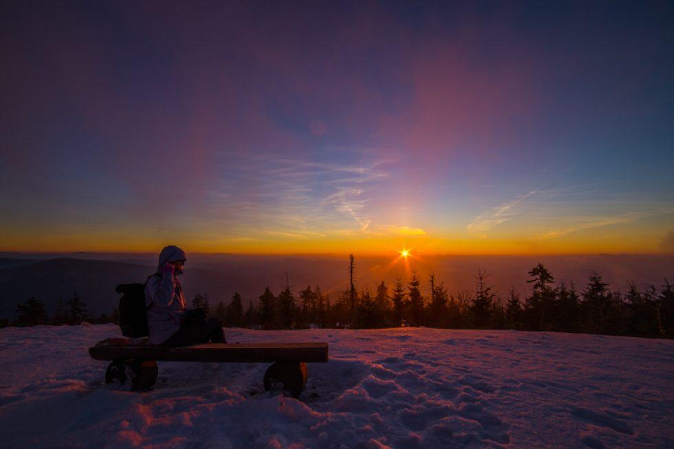 Hvězdná obloha a východ slunce na sv. Štěpána – 26. 12. 2017